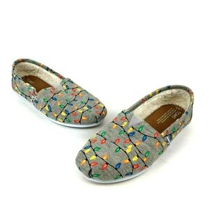 Toms Christmas Lights Glow In The Dark Flats Shoes